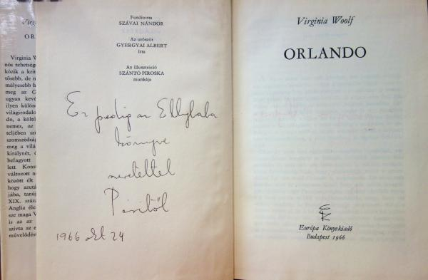 WOOLF, Virginia: Orlando.